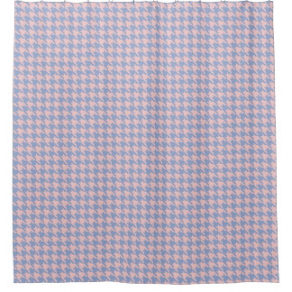 Pastel Pink and Sky Blue houndstooth