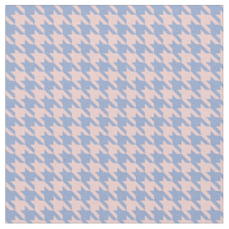 Pastel Pink and Sky Blue houndstooth Fabric