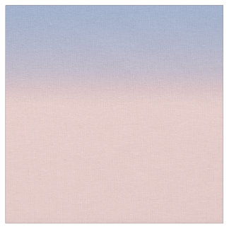 Pastel Pink and Sky Blue ombre Fabric
