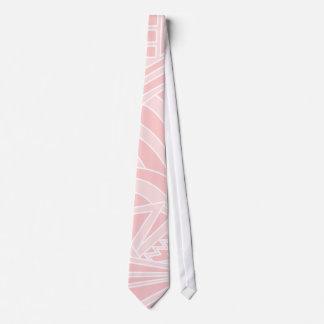 Pastel Pink Art Deco Style Design. Tie