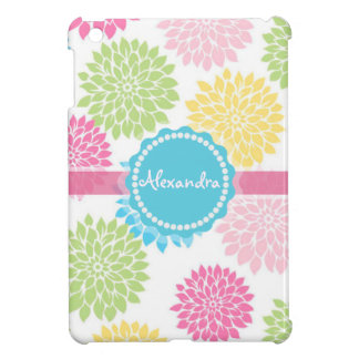 Pastel Pink, blue, Yellow Dahlia flowers name Cover For The iPad Mini