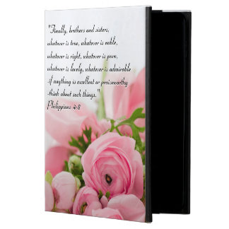 Pastel Pink Bouquet of Flowers Bible Verse Powis iPad Air 2 Case