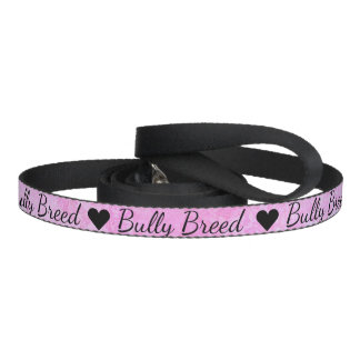 Pastel Pink Bully Breed Dog Leash
