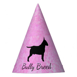 Pastel Pink Bully Breed Dog Party Hat