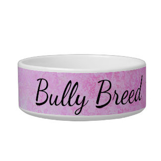 Pastel Pink Bully Breed Medium Pet Bowl