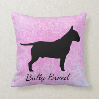 Pastel Pink Bully Breed Pillow