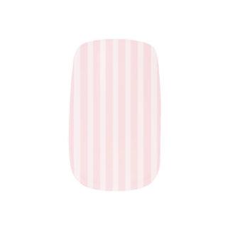 Pastel Pink Candy Stripes. Minx Nail Art