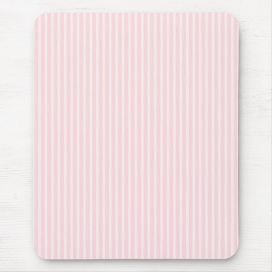 Pastel Pink Candy Stripes. Mouse Pad