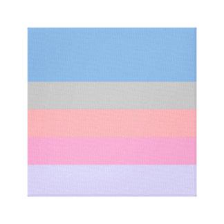 pastel pink coral grey blue purple color block canvas print