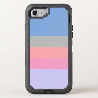 pastel pink coral grey blue purple color block OtterBox defender iPhone 8/7 case
