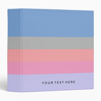 pastel pink coral grey blue purple color block vinyl binders