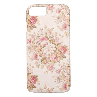 Pastel Pink Cottage Roses iPhone 7 Case