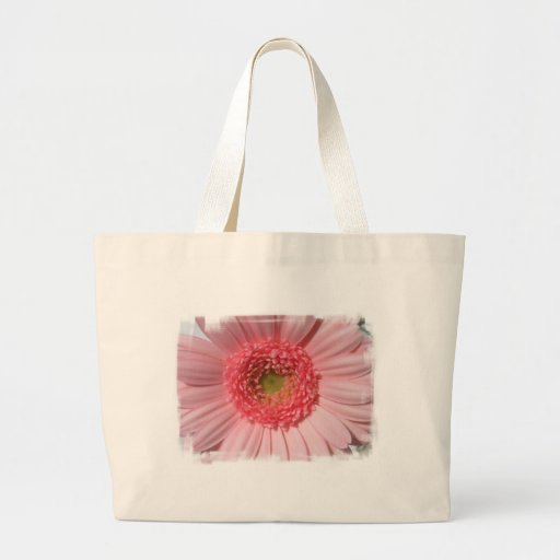 Pastel Pink Daisy  Canvas Bag
