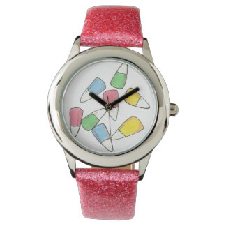 Pastel Pink Easter Basket Candy Corn Candies Watch