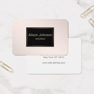 Pastel Pink Elegant Gradient texture. Business Card