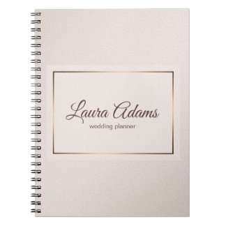 Pastel Pink Elegant Gradient texture. Notebook