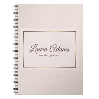 Pastel Pink Elegant Gradient texture. Spiral Notebook