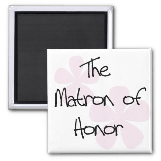 Pastel Pink Flowers Matron of Honor Magnet