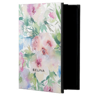 Pastel Pink Flowers Watercolors Powis iPad Air 2 Case