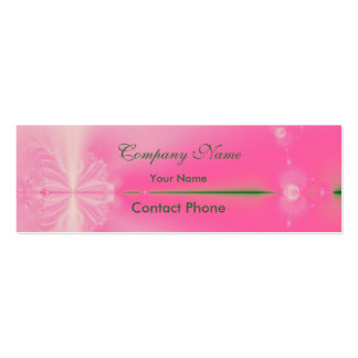 Pastel Pink Fractal Profile Card Template Double-Sided Mini Business Cards (Pack Of 20)