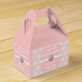 Pastel Pink Gable Favor Box for Sweet 16th