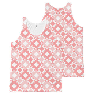 Pastel Pink Geometric Design Tank Top