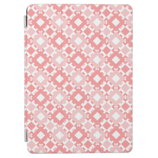 Pastel Pink Geometric Pattern Design iPad Cover