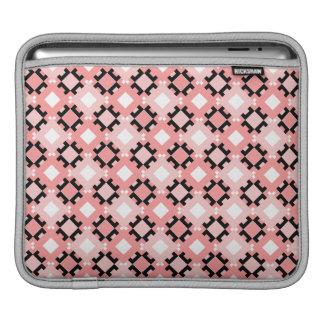 Pastel Pink Geometric Pattern Rickshaw iPad sleeve