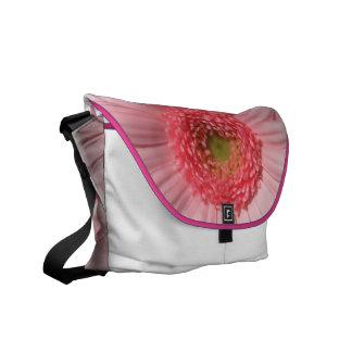Pastel Pink Gerbera Daisy Messenger Bag