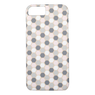 Pastel Pink Hexagon Phone Case iPhone 7/8