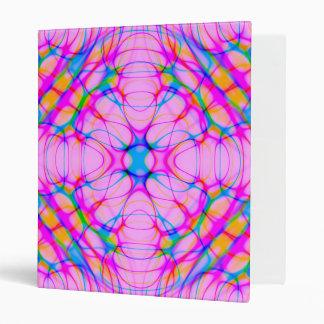 Pastel Pink Kaleidoscope Pattern Abstract Binders