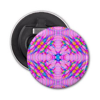 Pastel Pink Kaleidoscope Pattern Abstract Bottle Opener