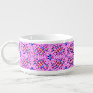 Pastel Pink Kaleidoscope Pattern Abstract Bowl