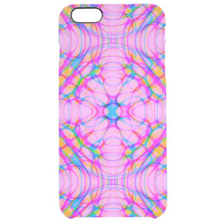 Pastel Pink Kaleidoscope Pattern Abstract Clear iPhone 6 Plus Case