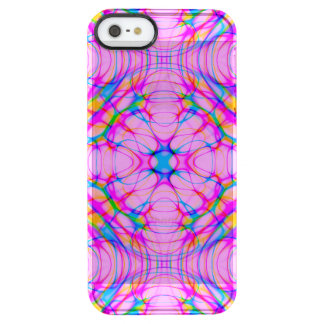 Pastel Pink Kaleidoscope Pattern Abstract Clear iPhone SE/5/5s Case