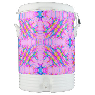 Pastel Pink Kaleidoscope Pattern Abstract Cooler