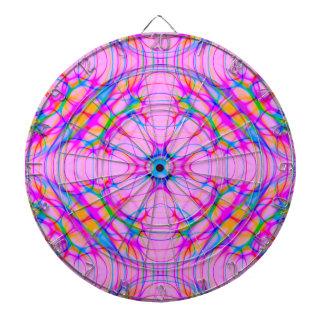 Pastel Pink Kaleidoscope Pattern Abstract Dartboard