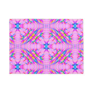 Pastel Pink Kaleidoscope Pattern Abstract Doormat