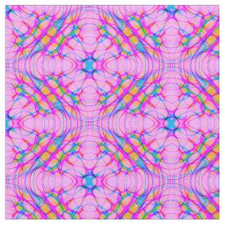Pastel Pink Kaleidoscope Pattern Abstract Fabric