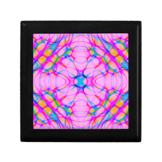 Pastel Pink Kaleidoscope Pattern Abstract Gift Box