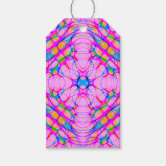 Pastel Pink Kaleidoscope Pattern Abstract Gift Tags