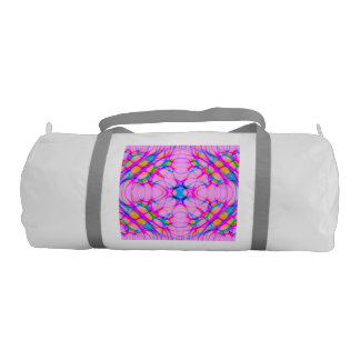Pastel Pink Kaleidoscope Pattern Abstract Gym Bag