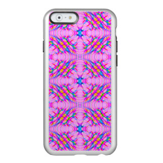 Pastel Pink Kaleidoscope Pattern Abstract Incipio Feather® Shine iPhone 6 Case