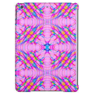 Pastel Pink Kaleidoscope Pattern Abstract iPad Air Cases