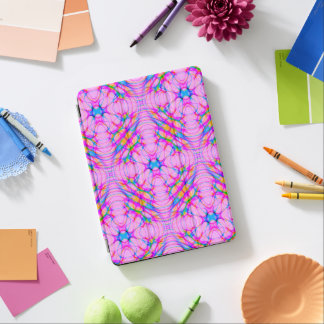 Pastel Pink Kaleidoscope Pattern Abstract iPad Air Cover