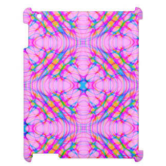 Pastel Pink Kaleidoscope Pattern Abstract iPad Covers