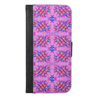 Pastel Pink Kaleidoscope Pattern Abstract iPhone 6/6s Plus Wallet Case