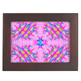 Pastel Pink Kaleidoscope Pattern Abstract Keepsake Box