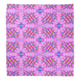 Pastel Pink Kaleidoscope Pattern Abstract Kerchief