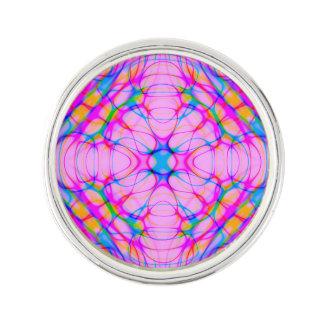 Pastel Pink Kaleidoscope Pattern Abstract Lapel Pin